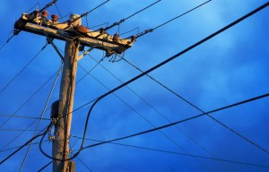 power-lines-generic-blue sky
