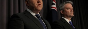 Joe-Hockey-Federal-Treasurer-Liberal-Senator-Matdhias-Cormann-finance-minister
