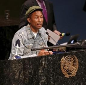 US-pop-star-Pharrell-Williams-speaks-UN-climate