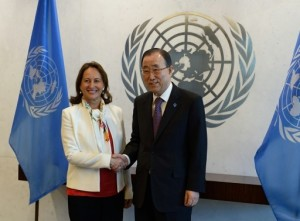 Segolene-Royal-France-Minister-ecology-UN-SecGen-Ban-Ki-moon