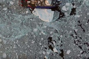 Arctic-sea-ice-lowest-level-research-ship
